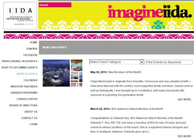 IIDA-AL website page
