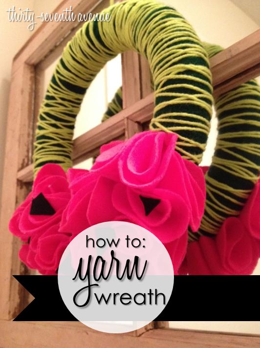 Watermelon Yarn Wreath