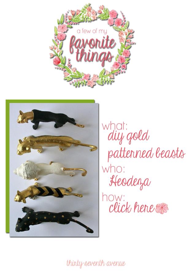 DIY Gold Pattern Beasts