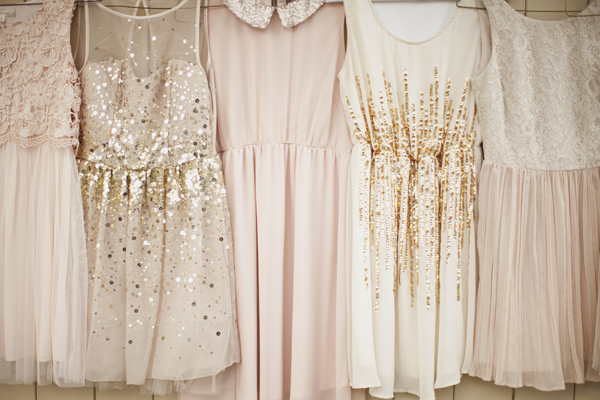 southern-wedding-pink-and-gold-dresses