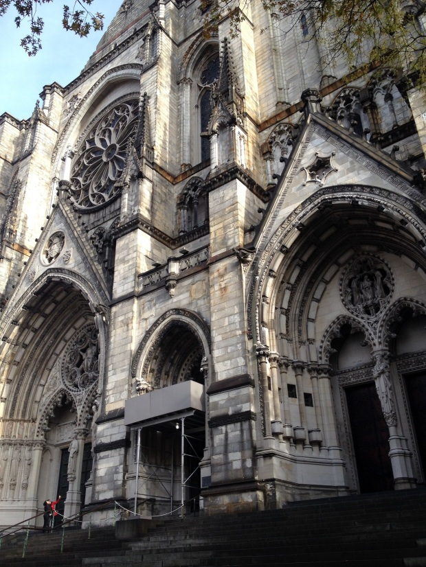 Cathedral of Saint John the Divine | construction started in 1892 and is still unfinished, one of the oldest and largest in the country and it's sitting in Harlem