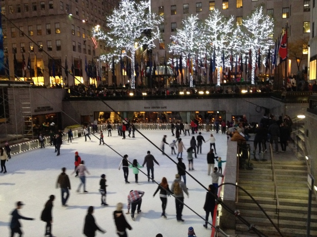 The Skating Rink at Rocketfeller Plaza