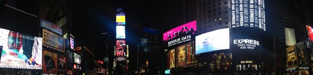 Panorama of Times Square